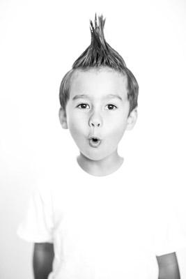 boy with hair cut